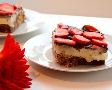 Himmlischer Erdbeer-Pudding Kuchen (Thermomix)