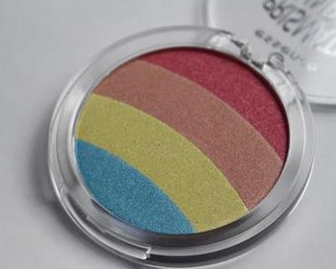 Essence Rainbow Highlighter 10 be a unicorn Review vs elf Eyeshadow Transformer