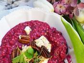 Frühlingsliebe! Rote Rüben Buchweizen Risotto warmen Schafskäse Pekannüssen