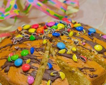 Konfetti-Kuchen für die Fasnachtsparty