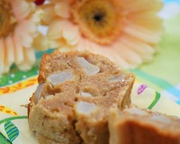 Einkorn-Kuchen mit Teff, Birne & Zimt [Gesunde Alternativen zu Weizenmehl]