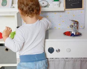 Upcycling: aus Nachtkästchen wird Spielküche