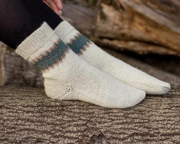Socken mit Jacquard Muster stricken