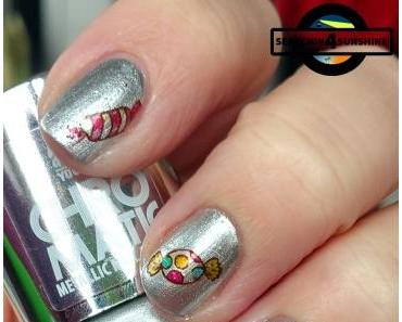 [Nails] NailArt-Dienstag: Süßigkeiten mit Rival de Loop YOUNG CHROMATIC METALLIC NAIL POLISH 02 SILVER