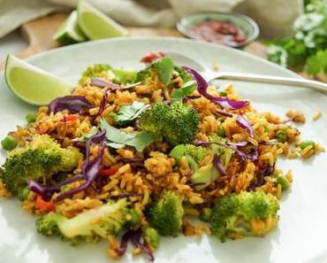 Vegetarische Reispfanne (Nasi Goreng)
