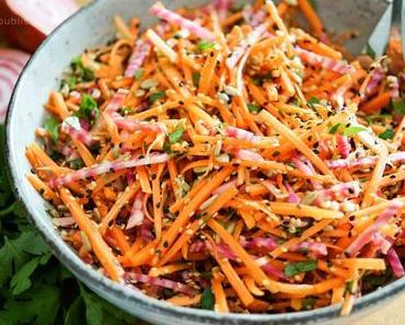 Knackiger Karottensalat mit Ringelbete