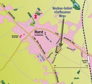 Neues Baugebiet in Horst