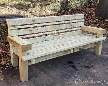 11 DIY Bank – Ideen für den Garten