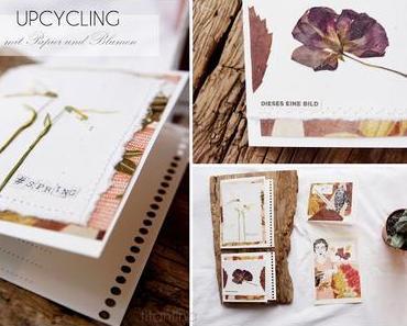 Upcycling: Karten aus alten Zeitschriften und Blüten