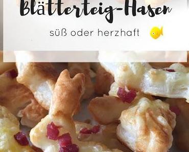 Blätterteig-Hasen für's Osterfrühstück, süß oder herzhaft