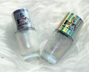 Rival de Loop young I love Unicorn Limited Edition Nail Polish 01 so fluffy + 02 rainbow drops Review