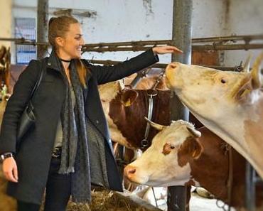 """""""Wir lassen die Kuh raus!"""" – Weidegang für Bio-Milchkühe - Naturland-Biobauernfamilie Pulfer und Andechser Molkerei lassen Rinder auf die Weide"""