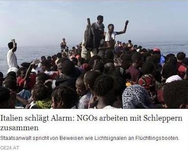 Schlepperkriminalität im Mittelmeer: Deutsche NGO's an der Spitze des Verbrechens