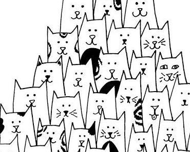 Katzen & Kreise - kostenlose Ausmalbilder
