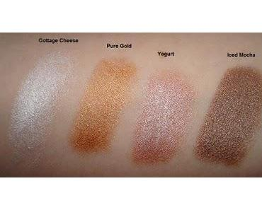 NYX Jumbo Cottage Cheese, Iced Mocha, Yogurt & Pure Gold Swatches