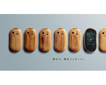 fantastischer Werbespot für Holz-Handy