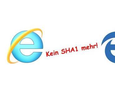 Auch Microsoft blockt ab sofort SHA1-Verschlüsselungen