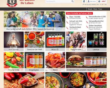 Chili Food Online Shop im neuen Gewand.