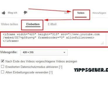 Tutorial: Youtube-Videos in WordPress-Artikel einfügen