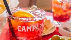 Feierabend Apéro Cocktail: Campari Spritz Originalrezept Camparino Milano