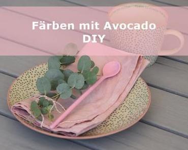 mit Avocado färben DIY