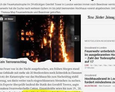 Hochhausbrand in London: Lässt sich ein Terrorakt wirklich ausschließen?
