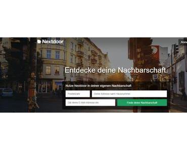 """Soziales Netzwerk """"Nextdoor"""" jetzt auch in Deutschland"""