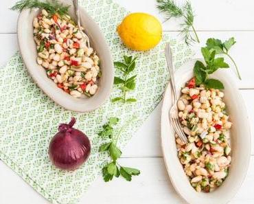 Grillfieber: Weißer Bohnensalat mit Paprika, Dill und Minze