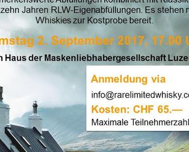 Schottische Highlights - Whisky Tasting am 2. September 2017 in Luzern
