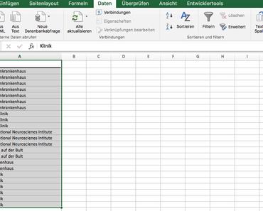 Excel Mac Os X: Doppelt Einträge in Zeilen/Spalten entfernen