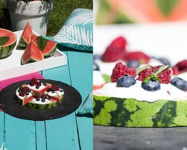 Leckere Melonenpizza für heiße Sommertage