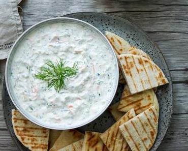 Original griechisches Tzatziki mit Karotte