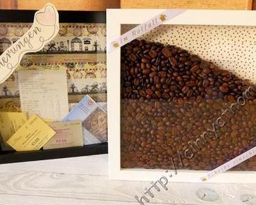 Aus tiefen Bilderrahmen kann man so viel machen #DIY #Kaffee #Erinnerungen