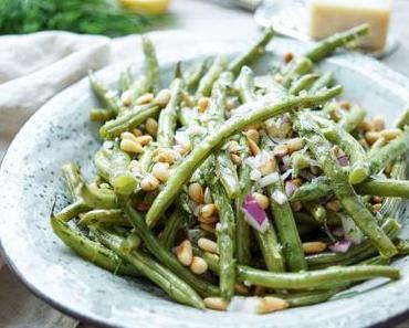 Geröstete grüne Bohnen mit Zitrone und Dill