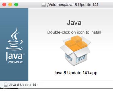 Mac OS X: Installation von Java 1.8.141,15 nicht nötig, da schon 9.0.0.0.176 vorhanden!