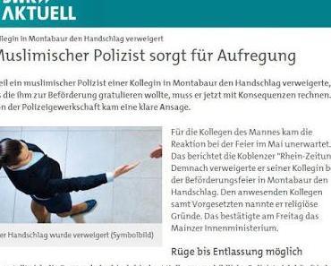 Skandal: Polizeiführung in Rheinland-Pfalz schützt schariakonformen Polizisten