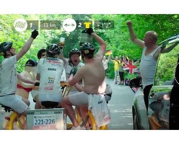 Mit dem Bierbike bei der Tour de France