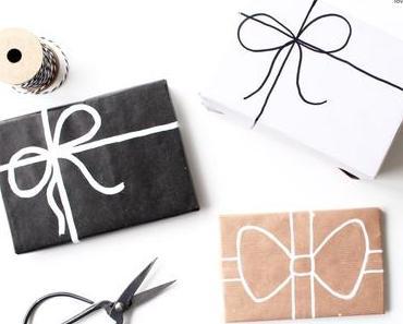 DIY Schleife auf Geschenkpapier malen + Insta-Stories
