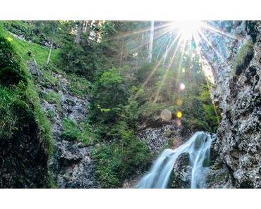 Bild der Woche: Marienwasserfall mit Abendsonne