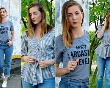 Jeans Braces, Sarcasm & A Wrap Blouse: My ROMWE Fashion