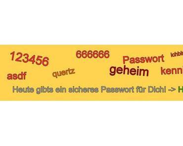 Moderne Passwörter: BlauPferdsingtUrlaub