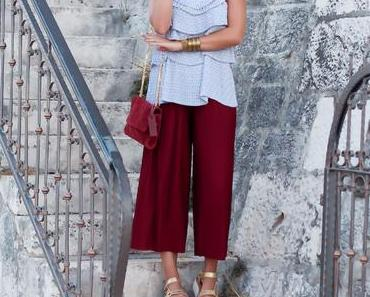 Pleated Culotte Outfit