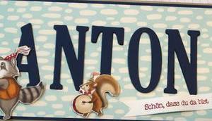 Anton Eine Babykarte