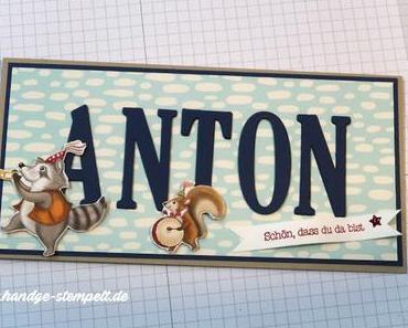 Anton ist da! - Eine Babykarte