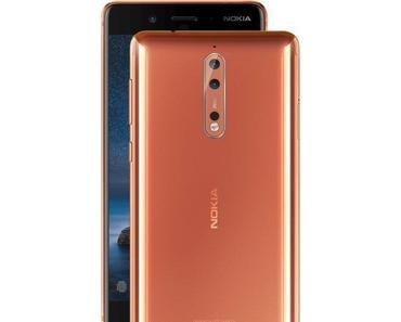 Nokia 8 offiziell vorgestellt, mit Zeiss-Kamera