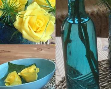 Friday-Flowerday – oder – Gelb & Türkis für's Summerfeeling