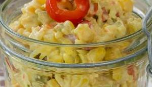 Mama: Hähnchen-Reis-Salat Curry Mayo