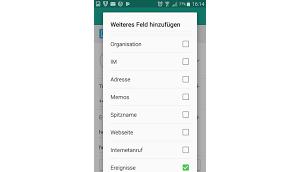 kann einem Kontakt Android Geburtsdatum hinzufügen?