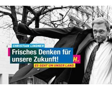 FDP Wahlplakate 2017. Laudatio auf den genialen FDP-Werbetexter, ein wahrer Fabuliervirtuose.