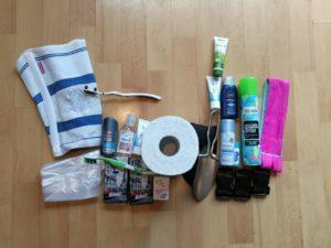 Packliste Hygieneartikel September 2017